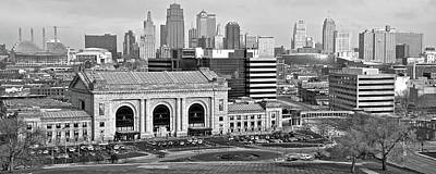 Photograph - Black And White Pano Of Kc by Frozen in Time Fine Art Photography