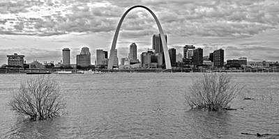 Photograph - Black And White Pano Of St Louis by Frozen in Time Fine Art Photography
