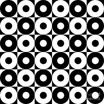 Black And White Pattern   Art Print by Mark Ashkenazi