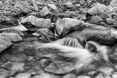 Photograph - Black And White Peaceful Stream by James BO Insogna