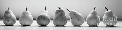 Black And White Pears Art Print by April Ann Canada