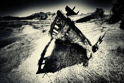 Pinhole Photograph - Black And White Photography Shipwreck Pinhole by Dapixara Art