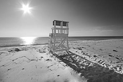 Black And White Photography The Beach Art Print by Dapixara Art