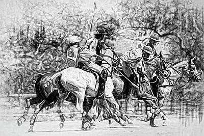 Photograph - Black And White Polo Hustle by Alice Gipson