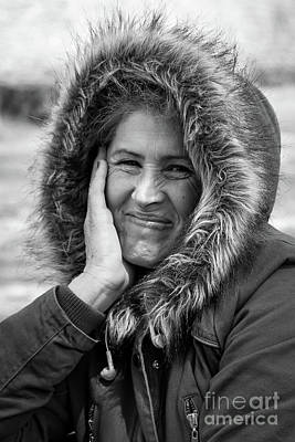 Photograph - Black And White, Portrait Of Local Albanian Woman In Metsovo, Greece by Global Light Photography - Nicole Leffer