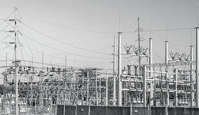 Photograph - Black And White Power Station by Dan Sproul