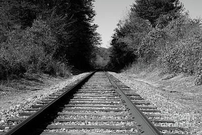 Black And White Railroad Art Print by Michael Waters