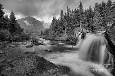 Photograph - Black And White Red Rock Falls by Adam Jewell
