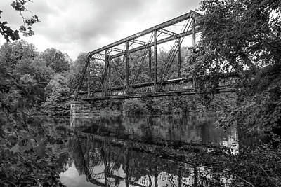 Rickety Bridge Photograph - Black And White Reflections by Lisa Bell