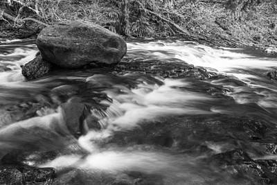 Photograph - Black And White River In Oregon  by John McGraw