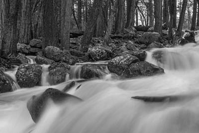 Photograph - Black And White River by John McGraw