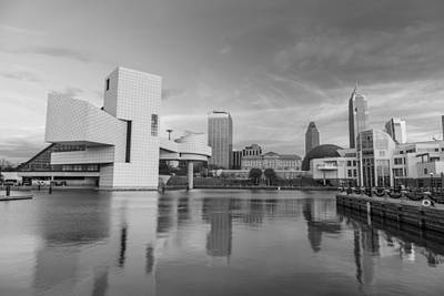Photograph - Black And White Rock And Roll Hall Of Fame  by John McGraw