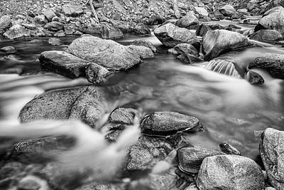 Photograph - Black And White Rocky Mountain Streaming Dreaming by James BO Insogna
