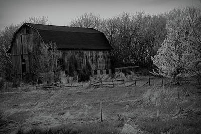 Photograph - Black And White Rustic Barn by Aimee L Maher ALM GALLERY
