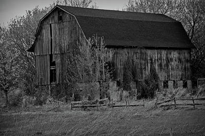 Photograph - Black And White Rustic Barn Close Up by Aimee L Maher ALM GALLERY