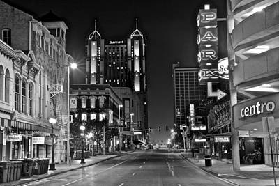 Photograph - Black And White San Antonio by Frozen in Time Fine Art Photography