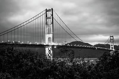 Photograph - Black And White San Francisco - Golden Gate Bridge by Gregory Ballos