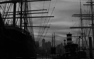 Photograph - Black And White Seaport by Christopher Kirby