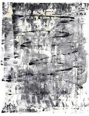 Painting - Black And White Series 588.112411 by Kris Haas
