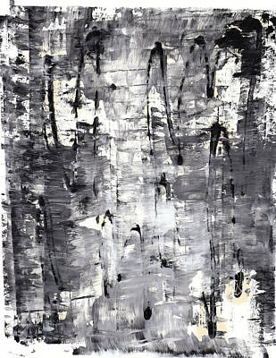 Painting - Black And White Series 589.112411 by Kris Haas