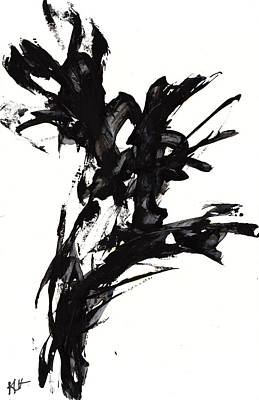 Painting - Black And White Series 652.102410 by Kris Haas