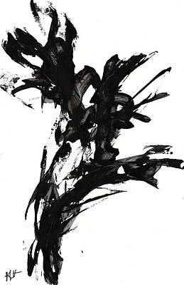 Painting - Black And White Series 652.102410.450 Dpi  by Kris Haas