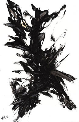 Painting - Black And White Series 653.102410 by Kris Haas