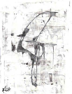 Painting - Black And White Series 828.120411 by Kris Haas