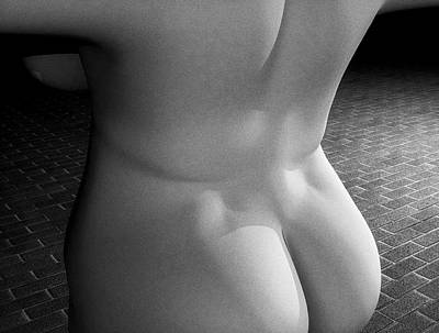 Digital Art - Black And White Sexy Back by James Barnes
