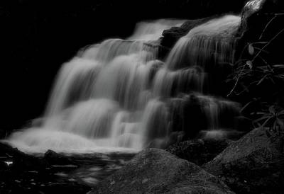 Photograph - Black And White Shays Run Waterfall by Dan Sproul