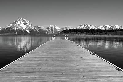 Photograph - Black And White Signal Mountain Marina by Dan Sproul