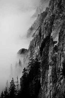 Romania Photograph - Black And White Silhouette Of The Mountains. by Made By  Vitaliebrega.com