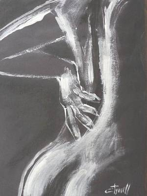 Black And White Sinuous Back - Female Nude Art Print by Carmen Tyrrell