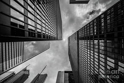 Black And White Skyscraper Art Print by MGL Meiklejohn Graphics Licensing