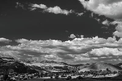 Black And White Small Town  Art Print by Jingjits Photography