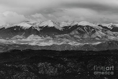 Photograph -  Black And White Snow On The Sangre by Steve Krull