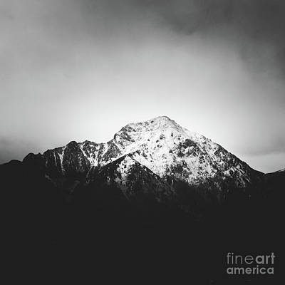 Photograph - Black And White Snowy Mountain by Patrik Lovrin
