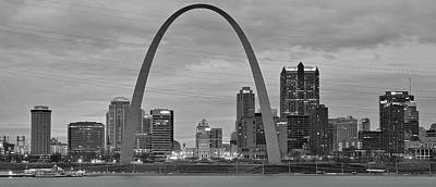 Photograph - Black And White St Louis 2016 by Frozen in Time Fine Art Photography