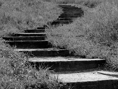 Photograph - Black And White Steps by Kyle West