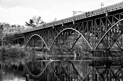 Photograph - Black And White - Strawberry Mansion Bridge - Philadelphia by Bill Cannon