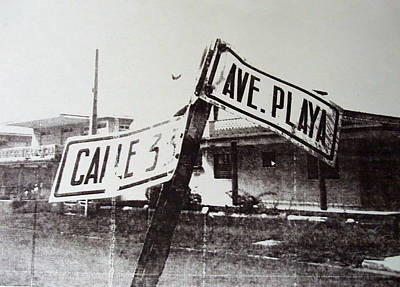 Crossroads Painting - Black And White Street Sign by David Studwell