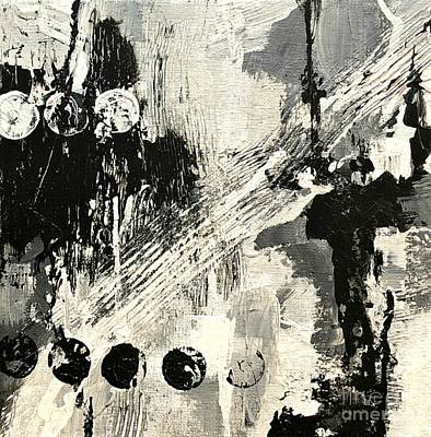 Painting - Black And White Study 4 by Mary Mirabal