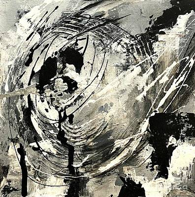 Painting - Black And White Study 5 by Mary Mirabal