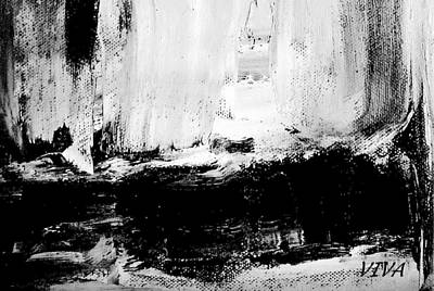 Painting - Black And White Study by VIVA Anderson
