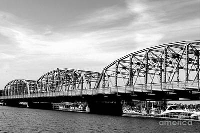 Nikki Vig Royalty-Free and Rights-Managed Images - Black and White Sturgeon Bay Steel Bridge by Nikki Vig