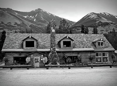 Photograph - Black And White Summit Lake Lodge Alaska by Aimee L Maher ALM GALLERY