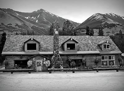 Photograph - Black And White Summit Lake Lodge Alaska by Aimee L Maher Photography and Art Visit ALMGallerydotcom