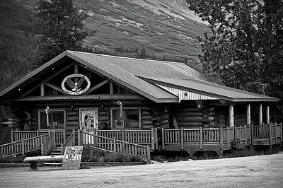 Photograph - Black And White Summit Lake Lodge Alaska 2 by Aimee L Maher ALM GALLERY