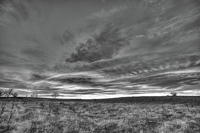 Photograph - Black And White Sunrise On The Plains by Tony Hake