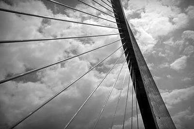 Photograph - Black And White Sunshine Skyway by Aimee L Maher ALM GALLERY